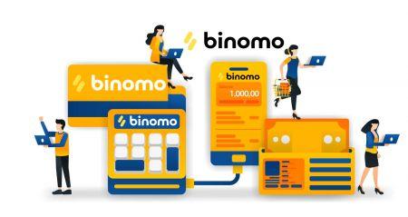 Como sacar e fazer um depósito de fundos no Binomo